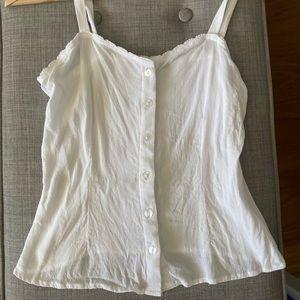 Cotton on white blouse🖤!